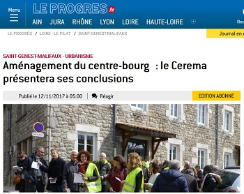Journal Le Progrès: article sur le bilan du Cerema
