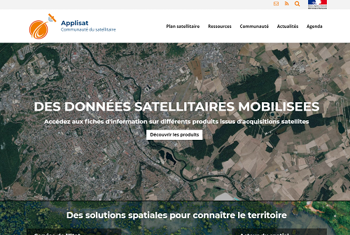 capture d'écran du site Applisat
