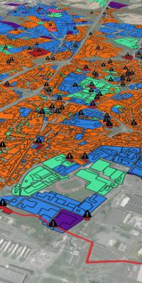 visualisation d'une carte foncière