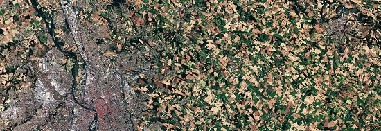 Image satellite de Toulouse