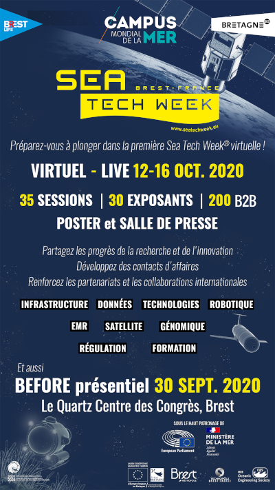 affiche promotion salon Sea Tech Week 2020