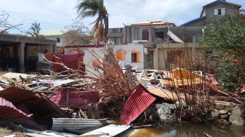 maisons détruites après l'ouragan Irma