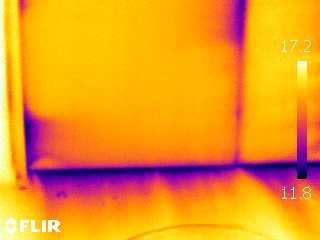 Visualisation thermogramme infiltrométrie