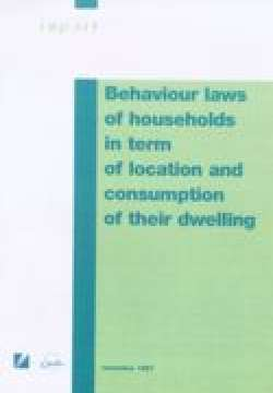 Behaviour laws of households in term of location and consumption of their dwelling