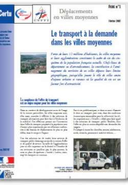 Quality of public transport in medium-sized towns : responding to user demand, factsheet n°. 6