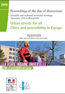 Urban streets for all Cities and accessibility in Europe - meeting September 27th