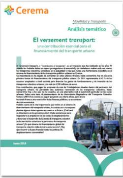 Movilidad y transporte - Analisis tematico n° 30 - El versement transport