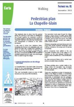 Pedestrian plan La Chapelle-Glain : Walking
