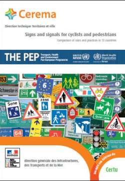 Signs and signals for cyclists and pedestrians PEP synthese