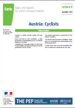 Signs and signals for active transport modes PEP - Cyclists