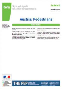 Signs and signals for active transport modes PEP - Pedestrians