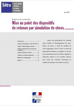 Mise au point des dispositifs de retenue par simulation de chocs