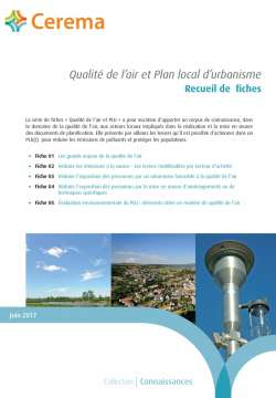 image qualité de l'air et plan local urbanisme
