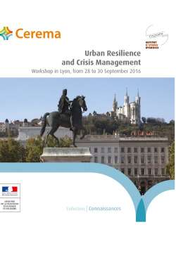 Urban resilience and crisis management