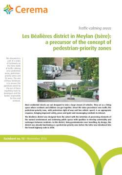 Traffic calming areas