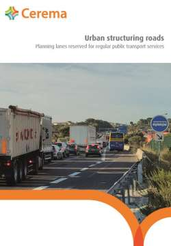 Urban structuring roads -  Planning lanes reserved for regular public transport services