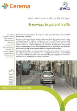 Tramways in general traffic
