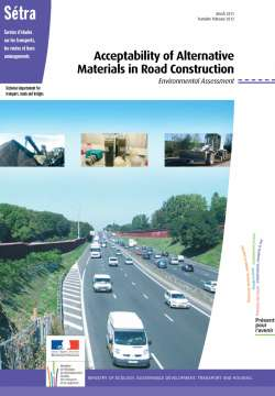 Acceptability of alternative materials in road construction