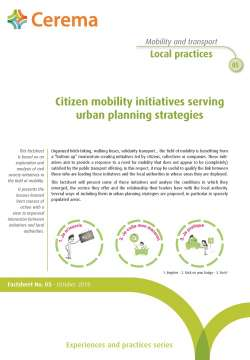 Citizen mobility initiatives serving urban planning strategies