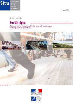 Technical guide - Footbridges
