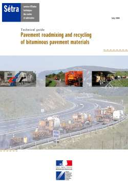 Pavement roadmixing and recycling of bituminous pavement materials