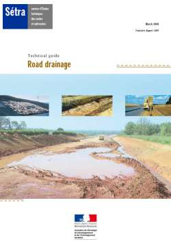 Guide Road drainage