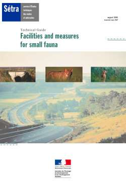 Facilities and measures for small fauna