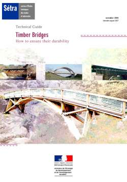 Technical Guide - Timber Bridges - How to ensure their durability