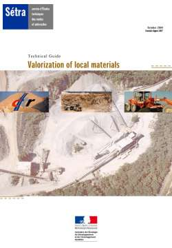 Valorization of local materials