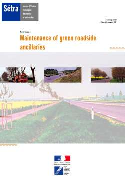 Maintenance of green roadside ancillaries