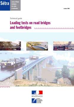 Technical guide - Loading tests on road bridges and footbridges