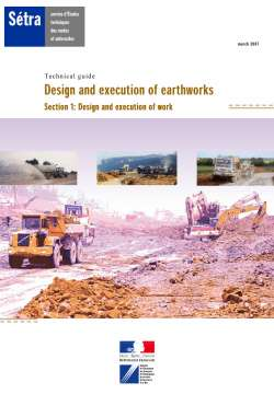 Design and execution of earthworks