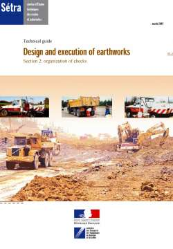 Design and execution of earthworks S2