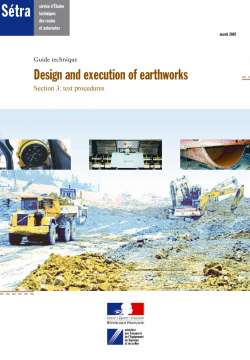 Design and execution of earthworks S3