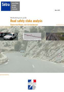 Methodological guide - Road safety stake analysis