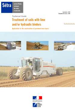 Treatment of soils with lime and/or hydrolic binders