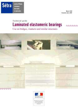 Technical guide - Laminated elastomeric bearings