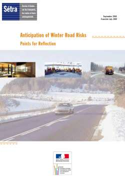 Anticipation of winter road risks