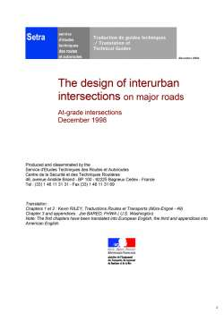 The design of interurban intersections on major roads