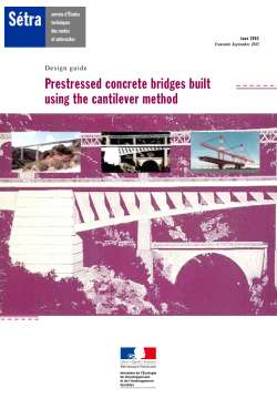 Prestressed concrete bridges bruilt using the cantilever method