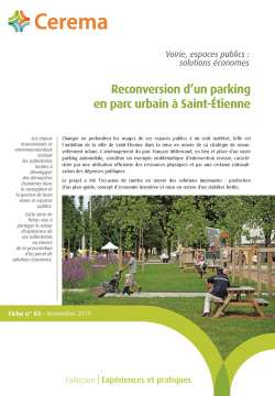 Fiche n° 03 - Reconversion d'un parking en parc urbain à Saint-Étienne