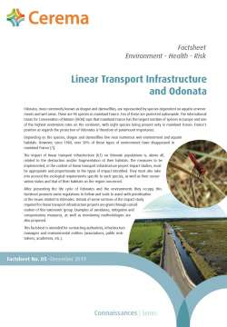 Factsheet no. 05   Linear Transport Infrastructure and Odonata