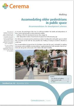 Accomodating older pedestrians in public space
